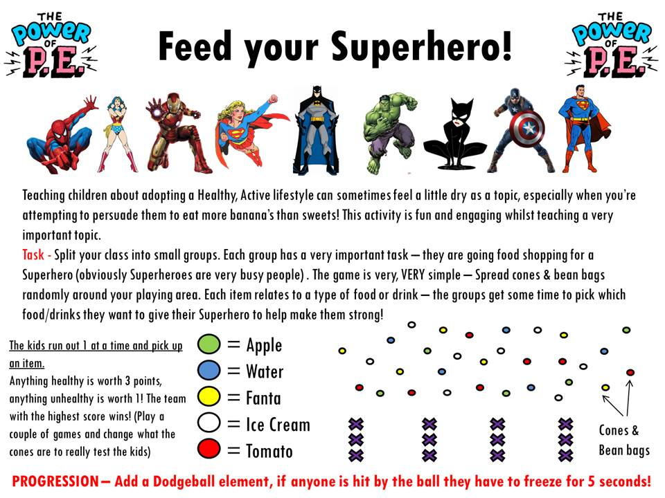 Power of P.E Feed your Superhero