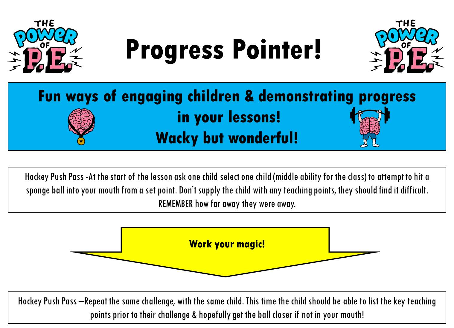 Power of P.E Progress Pointer